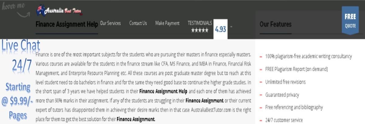 Corporate Finance Area of Study